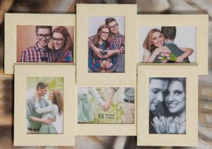 Рамка-коллаж на 6 фото 10х15 см.
